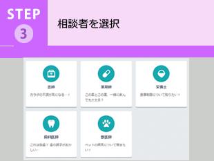 STEP3・・・相談者を選択